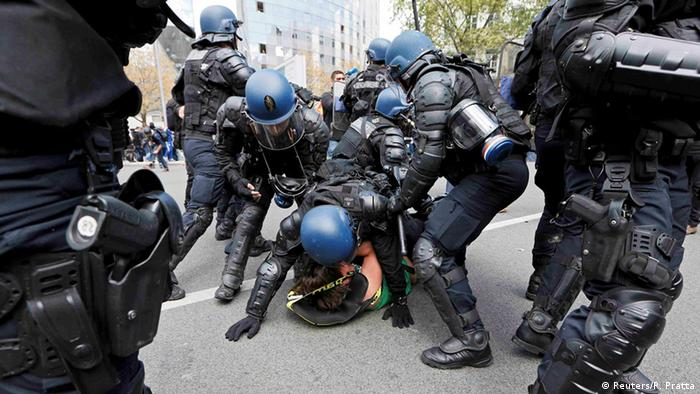 Frankreich Demonstrationen gegen Arbeitsrechtsreform