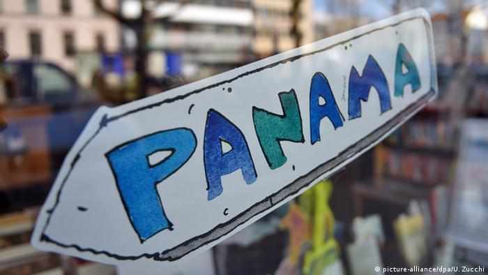 Symbolbild Panama Papers Janosch Schriftzug