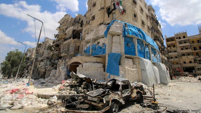 Halep'te vurulan hastane
