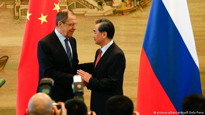 Sergei Lavrov in Peking China Wang Yi
