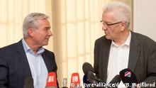 CDU-Verhandlungsführer Thomas Strobl (l.) und Ministerpräsident Winfried Kretschmann