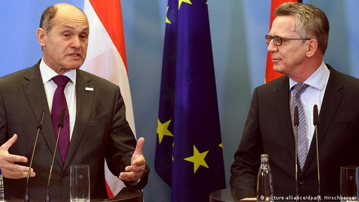Deutschland Innenminister Wolfgang Sobotka Österreich & Thomas de Maizière