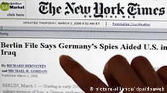 Illustration zum Thema New York Times berichtet über BND-Zusammenarbeit vom 02.03.2006 Computer, Geheimdienste, Medien, Regierung, USA
