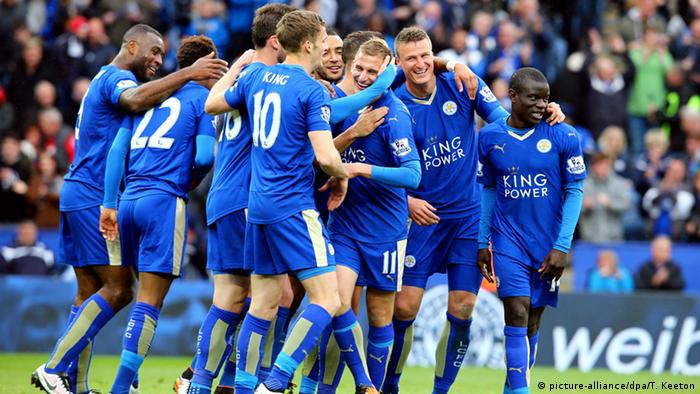 Jubel Spieler Leicester City (Foto: picture-alliance/dpa/T. Keeton)