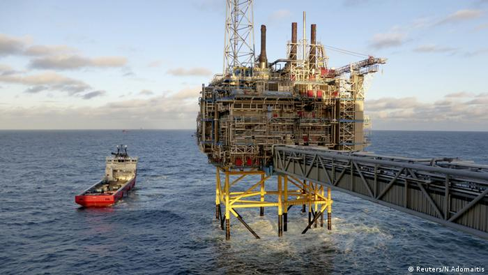Oil and gas company Statoil gas processing and CO2 removal platform Sleipner T is pictured in the offshore near the Stavanger, Norway