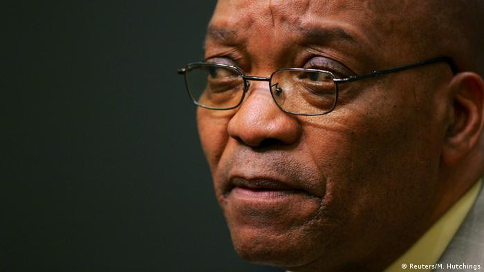 A close-up portrait of President Zuma (Reuters/M. Hutchings)