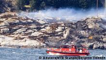 Norwegen Hubschrauberabsturz bei Bergen