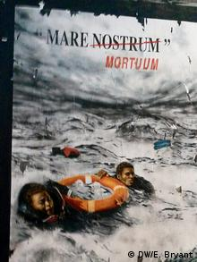 poster of refugees in water copyright: E. Bryant