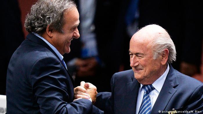 Schweiz Michel Platini und Sepp Blatter