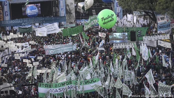 Thousands demonstrate in Argentina against labor reforms, job cuts