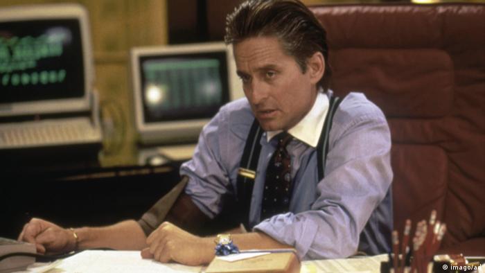 Film still 'Wall Street' Michael Douglas as Gordon Gekko (imago/ad)