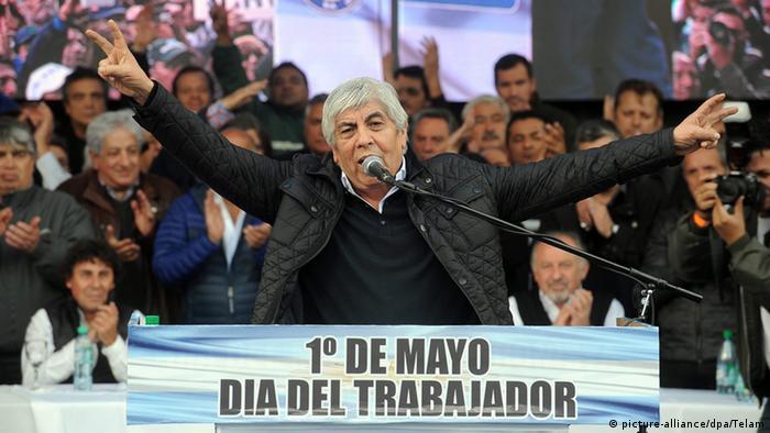 Argentinien Hugo Moyano Streik (picture-alliance/dpa/Telam)