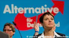 Zum AfD-Bundesparteitag in Stuttgart wird auch die Vorsitzende Frauke Petry erwartet