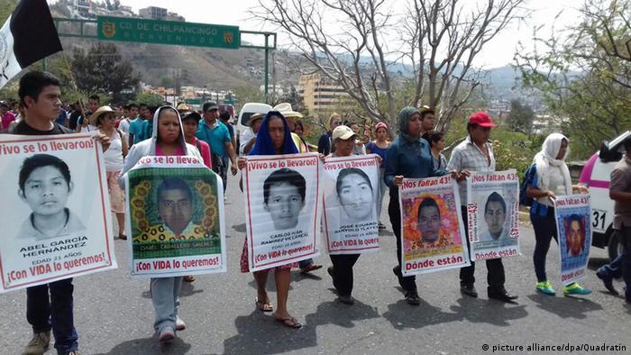 Protestas en Chilpancingo, capital del estado de Guerrero.