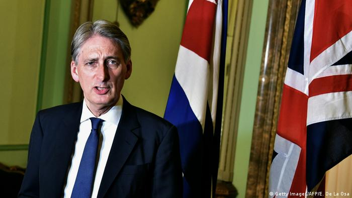Kuba Havana Besuch britscher Außenminister Philip Hammond mit Bruno Rodriguez