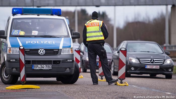 Deutschland Grenzkontrollen in Lichtenbusch