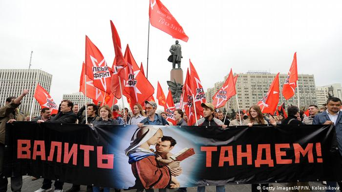 Mayday Russland 2011 (Getty Images/AFP/N. Kolesnikova)