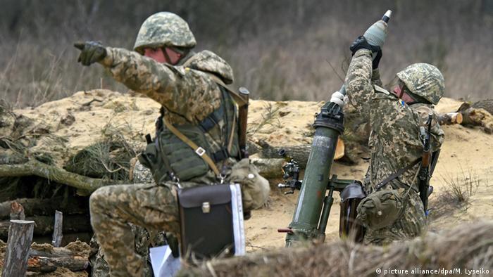 Українські військові під час навчань (фото з архіву)