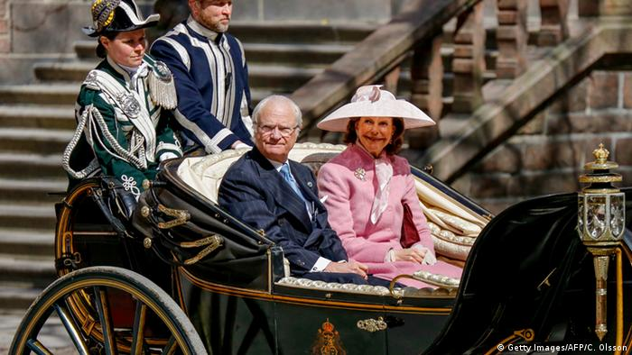 Swedish King Carl XVI Gustaf and wife