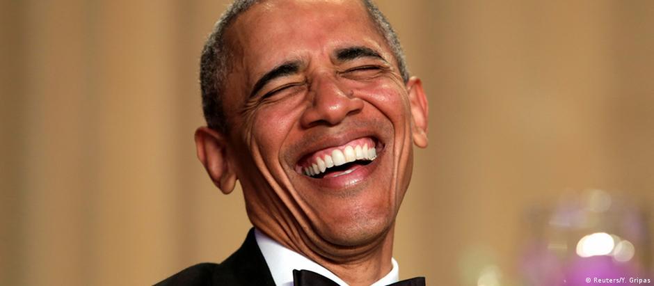 Presidente Obama exibiu talento de humorista em jantar de correspondentes no Hotel Hilton