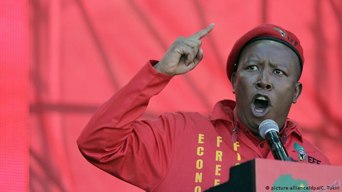 Südafrika Johannesburg Oppoosition EFF Julius Malema