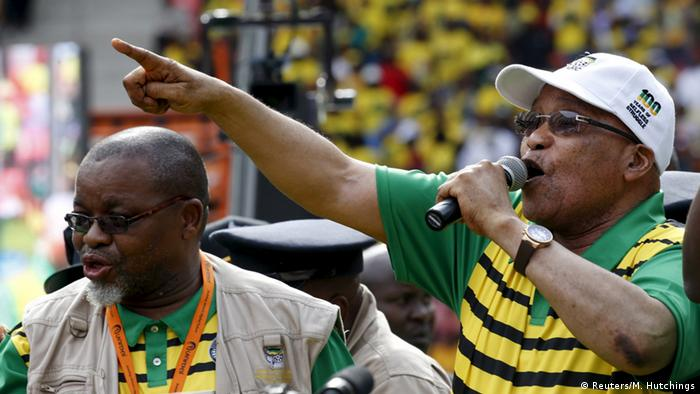 The ANC struggled to fill a stadium as the party's President Zuma remains embroiled by corruption allegations