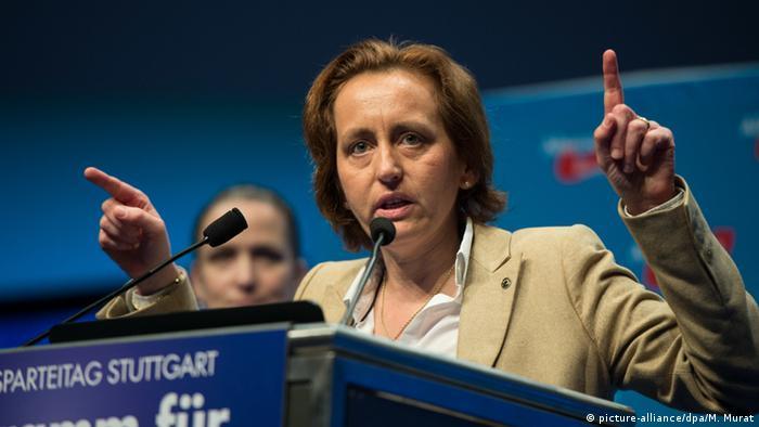A deputada nacionalista alemã Beatrix von Storch