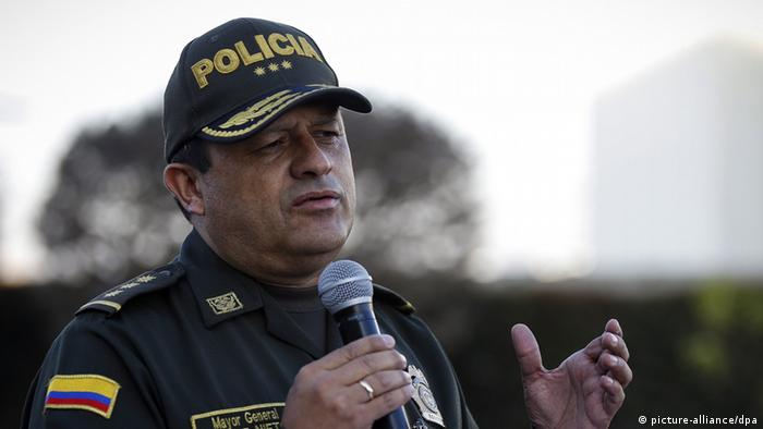 Kolumbien Bogota Polizeichef Jorge Hernando Nieto