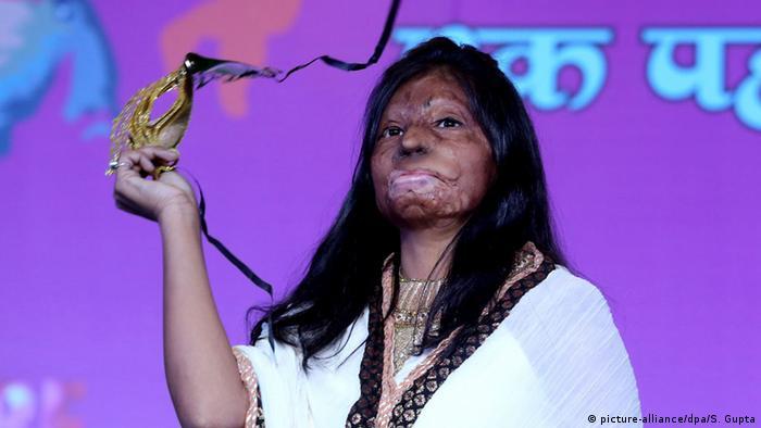 Indien Opfer von Säureangriffen