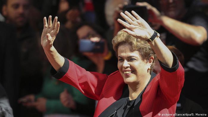 Sao Paulo Dilma Rousseff 1. Mai Kundgebung