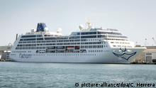 01.05.2016 epa05257803 Cruise ship Adonia, from Carnival's new line, Fathom, is docked in Miami's Cruise Terminal, in Miami, Florida, USA, on 13 April 2016. Ship Adonia, with a capacity of 704 passengers, will depart to Havana, Cuba, on next 01 May as part of the company's first Miami-Havana route. Several Cuban-Americans filed a lawsuit against Carnival Cruise for discrimination after the company agreed to comply with a demand by the Cuban Government that prohibits the entry of Cubans and Cuban-Americans by sea. EPA/CRISTOBAL HERRERA +++(c) dpa - Bildfunk+++ | Copyright: picture-alliance/dpa/C. Herrera