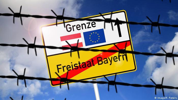 Deutschland Freistaat Bayern Schild Symbolbild