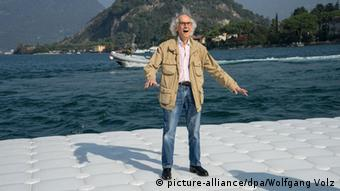 Christo Project, The Floating Piers, Copyright: picture-alliance/dpa/Wolfgang Volz