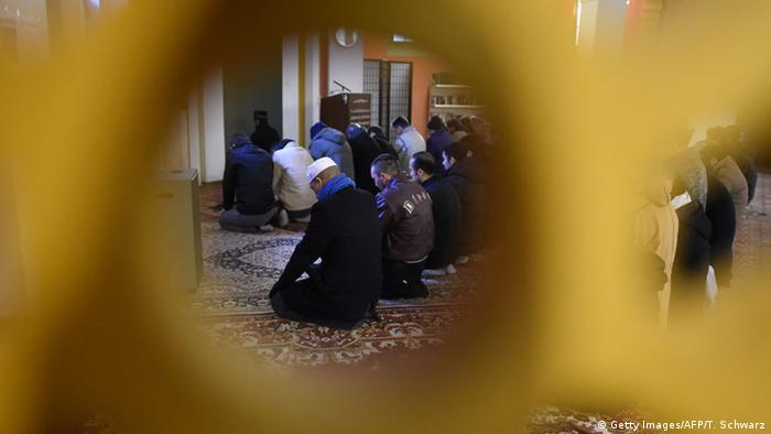 Belivers attend the Friday prayer at a mosque of the Lahore Ahmadiyya Movement for the Propagation of Islam in Berlin