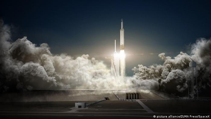 USA SpaceX Falcon Heavy (picture alliance/ZUMA Press/SpaceX)