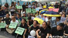 China Protestaktion in Hongkong