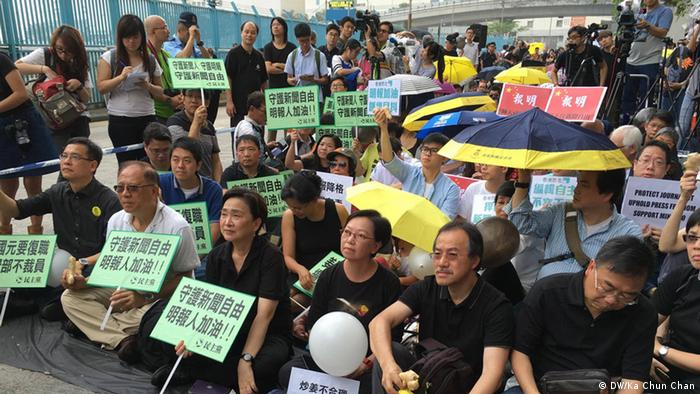 China Protestaktion in Hong Kong