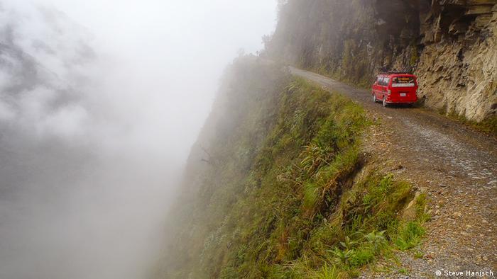 Die Yungas Road nahe La Paz in Bolivien