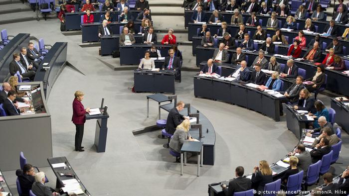 Deutschland Plenarsaal Bundestag