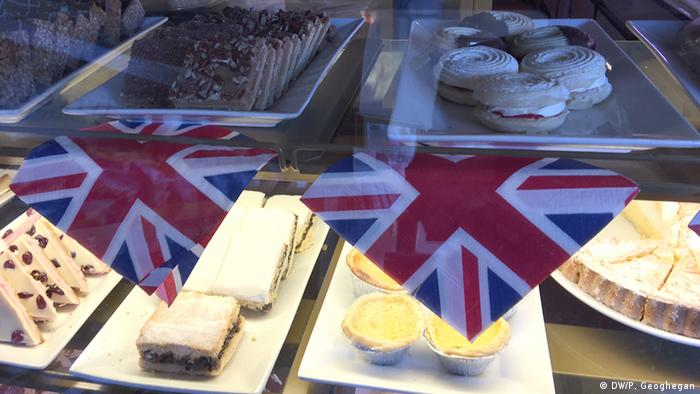 UK flags in a café copyright: Peter Geoghegan
