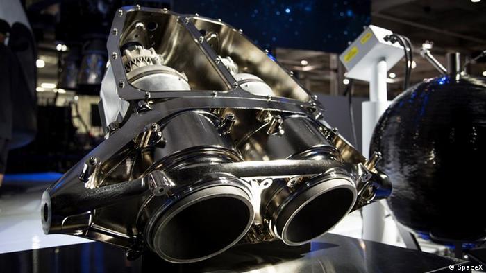 Bild vom SpaceX neustem Raketentriebwerk SuperDraco
