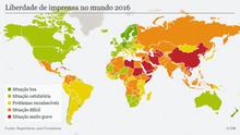 Karte Infografik Pressefreiheit weltweit 2016 Reporter ohne Grenzen