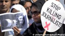 Pakistan Journalisten Mord Pressefreiheit Medien (picture-alliance/dpa/T.Mughal)