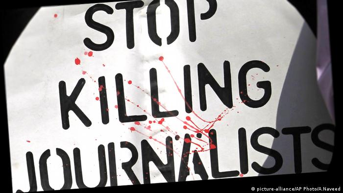 Pakistan Journalisten Mord Pressefreiheit Medien (picture-alliance/AP Photo/A.Naveed)