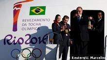 Brasilien Ankunft der olympischen Flamme in Brasilia