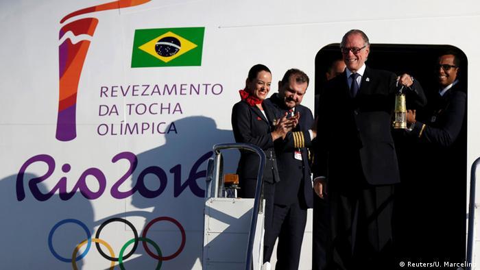 Прибытие олимпийского огня в Бразилию