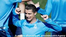 Spanien Cristiano Ronaldo von Real Madrid beim Training