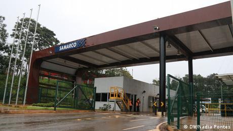 Fachada da sede da mineradora Samarco, em Minas Gerais