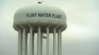 Water tower in Flint