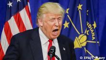 USA Vorwahlen in South Bend, Indiana 2016 Donald Trump begrüßt sein Publikum